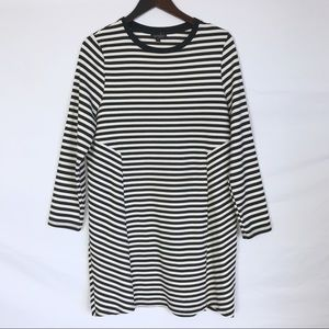 TOPSHOP Black & White Stripe Dress
